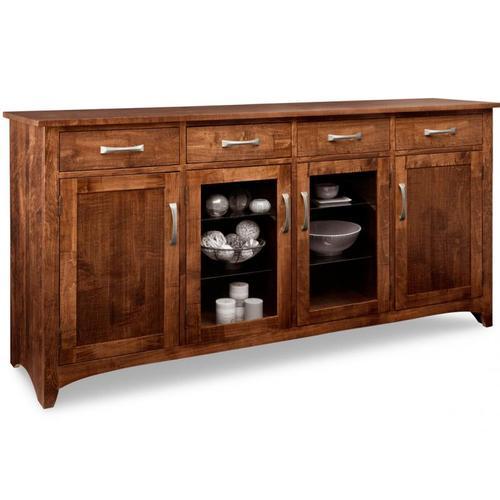 - Glengarry Sideboard w/2 Wood Doors & 2/Center Glass Door & 4/Drws & 2/Wood & Glass Adjust.