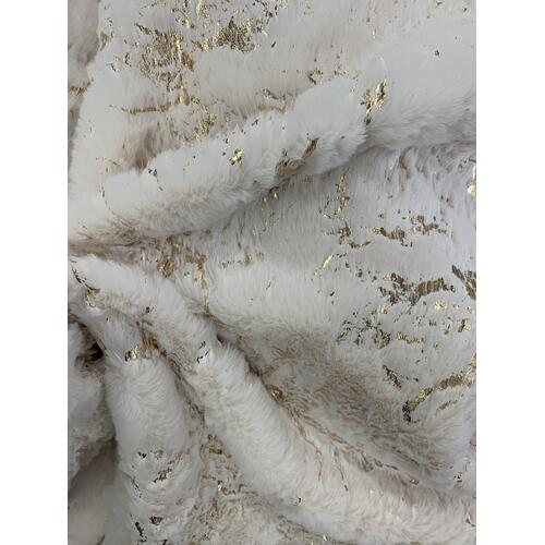 "Metallica Blanket/Coverlet Collection - Cal King/Eastern King - 104"" x 91"" / White / Scattered"