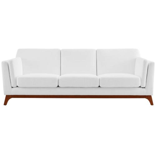 Chance Upholstered Fabric Sofa in White