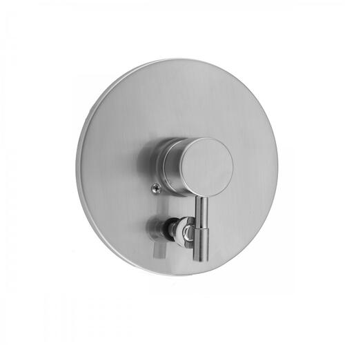 Polished Chrome - Round Plate With Round Contempo Lever Trim For Pressure Balance Cycling Valve With Built-in Diverter (J-DIV-CSV)