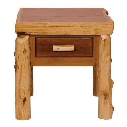 Product Image - One Drawer End Table - Natural Cedar