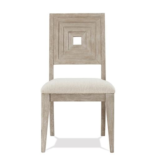 Cascade - Upholstered Wood Back Side Chair - Dovetail Finish