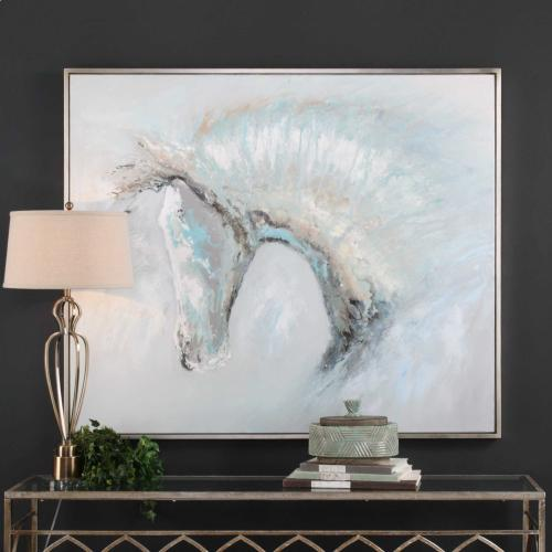 Ice Illusion Hand Painted Canvas