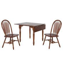 See Details - Drop Leaf Dining Set w/Arrowback Chairs - Chestnut