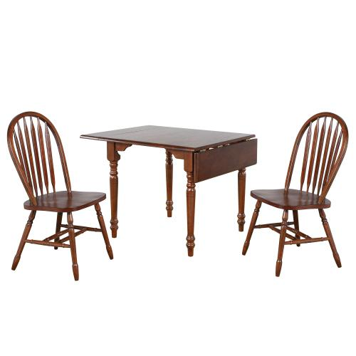 Product Image - Drop Leaf Dining Set w/Arrowback Chairs - Chestnut