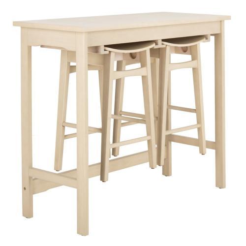 Colbie 3 Piece Pub Set - White Oak