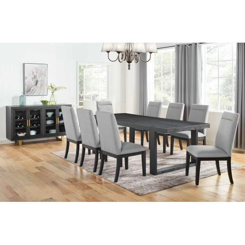 Steve Silver Co. - Yves 5 Piece Dining Set (Table & 4 Grey Performance Side Chairs)