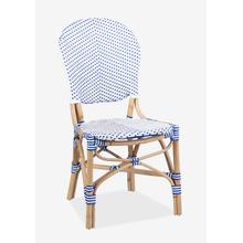 Isabel Indoor-Outdoor Chair, White/Blue (2pcs per box, price is per piece)
