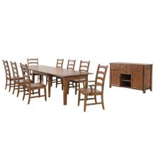 See Details - Rectangular Extendable Table Dining Set - Amish (10 Piece)