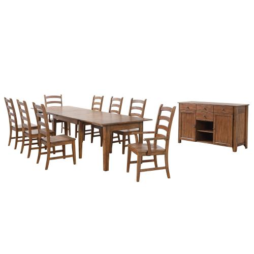 Product Image - Rectangular Extendable Table Dining Set - Amish (10 Piece)