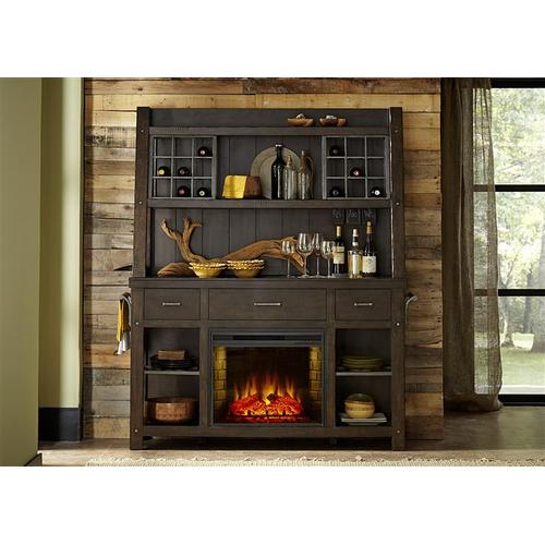 Liberty Furniture Industries - Buffet with Fireplace