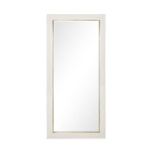 Great White faux Croc mirror