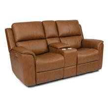 Henry Power Reclining Loveseat with Console & Power Headrest & Power Lumbar