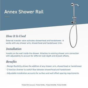 Annex oil rubbed bronze shower only