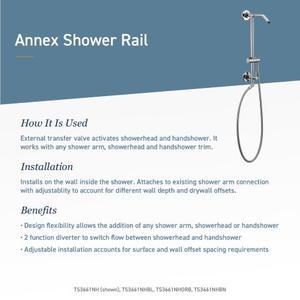 Annex brushed nickel shower only
