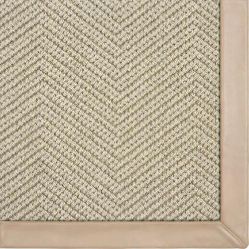 Karastan - Wool Sisal Berber Drizzle 10'x14' / Leather Border