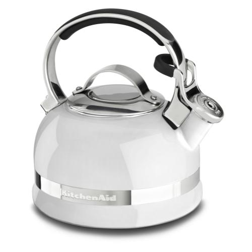 1.9 L Stove-top Kettle with Full Stainless Steel Handle and Trim Band - White