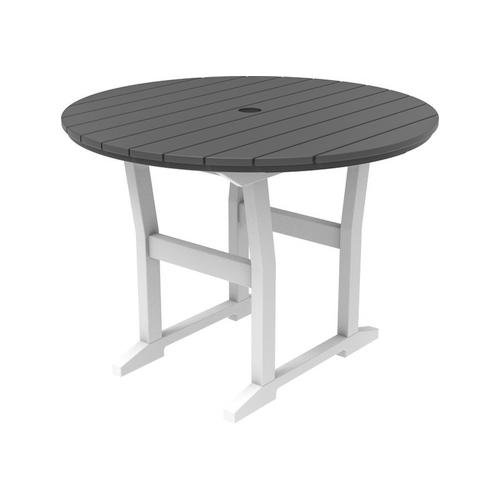 """Seaside Casual - Coastline Caf 40"""" Round Dining Table (323)"""