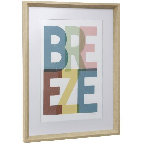 Style Craft - BREEZE  17in w X 23in ht  Framed Print Under Glass with Matte