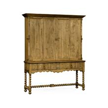 Elizabethan Style Natural Oak TV Cabinet
