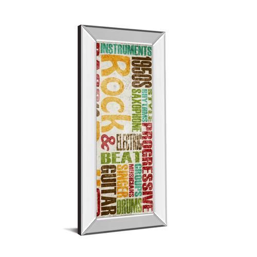 """Rock & Roll"" By Sd Graphics Studio Mirror Framed Print Wall Art"