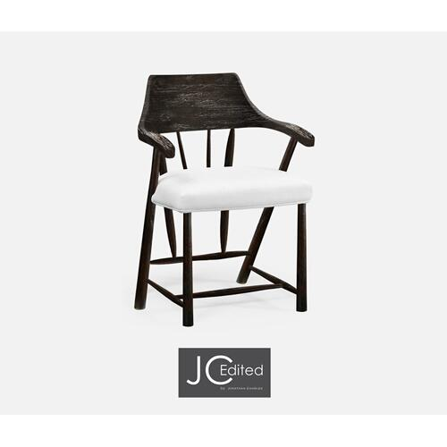 Dining Chair in Dark Ale, Upholstered in COM