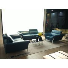 Divani Casa Ronen Modern Blue Leather Sofa Set