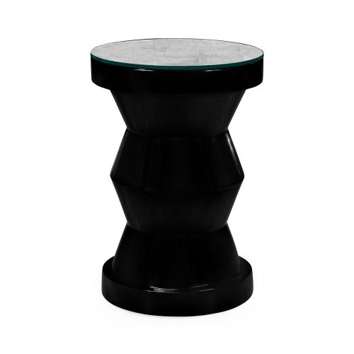 Smoky Black round wine table