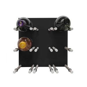 9 Bottle Acrylic Peg Wine Racks (Black)