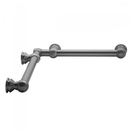 "Satin Brass - G30 16"" x 24"" Inside Corner Grab Bar"