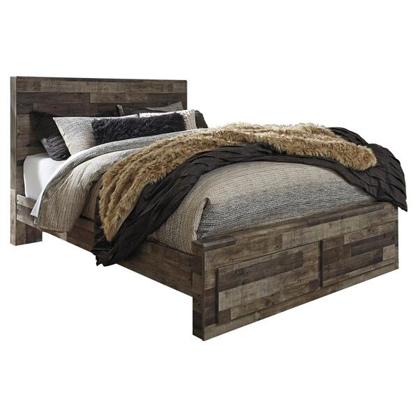 See Details - Derekson Queen Panel Bed With 2 Storage Drawers