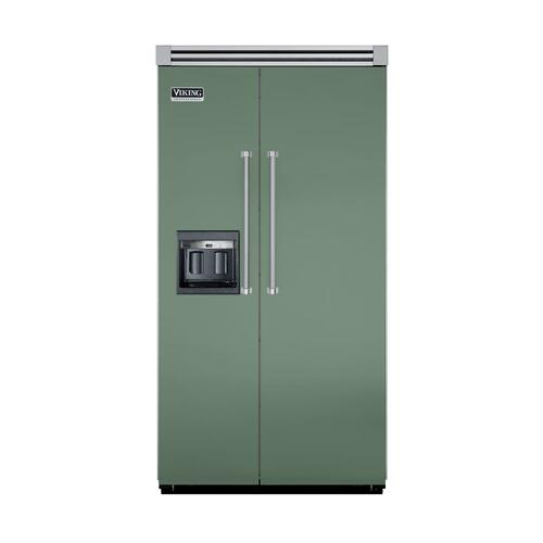 "Viking - Mint Julep 42"" Side-by-Side Refrigerator/Freezer with Dispenser - VISB (Integrated Installation)"