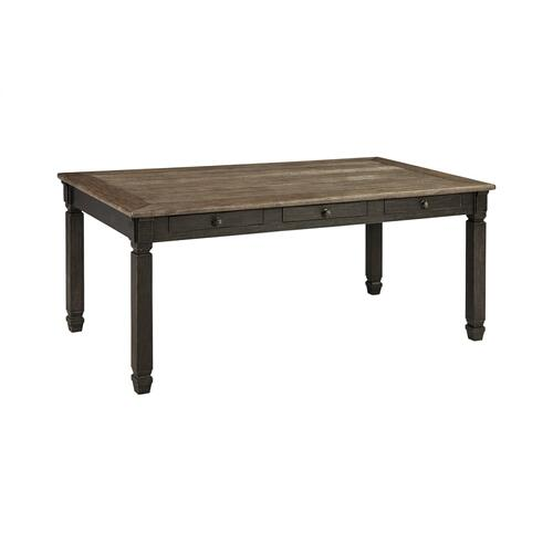 Tyler Creek Rectangular Dining Room Table Black/Gray