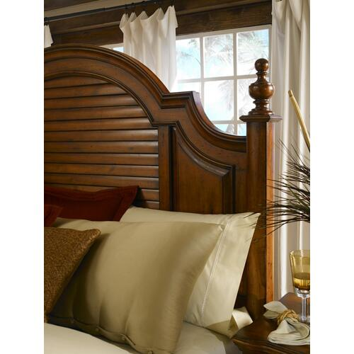 E.KING Louvered Panel Bed