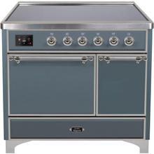 40 Inch Blue Grey Electric Freestanding Range