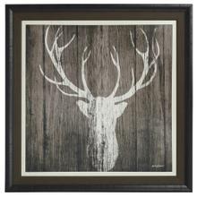 See Details - Sophisticated Deer Textured Print Custom Framed