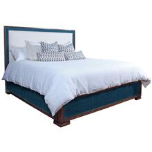 Purveyor Queen Platform Bed in Aqua Saguran