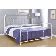 Hallwood Bed - King, Antique White Finish