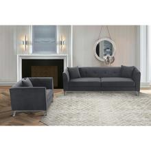 Product Image - Everest 2 Piece Gray Fabric Upholstered Sofa & Chair Set