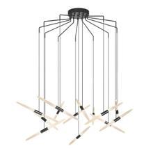 View Product - Ballet LED Pendant [Size=13-Light, Color/Finish=Satin Black, Shape=Spreader]
