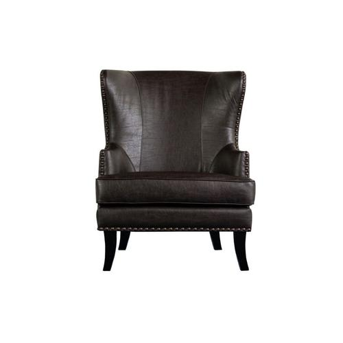 Porter International Designs - Grant Espresso Leather-Look Accent Chair, ACL566