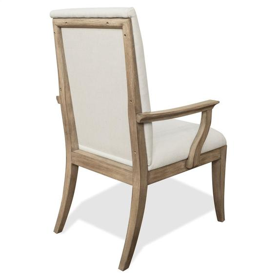 Riverside - Sophie - Upholstered Arm Chair - Natural Finish