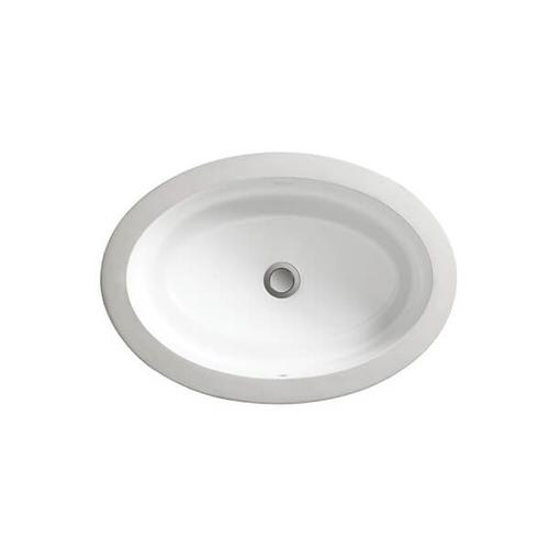 Dxv - Pop Petite Oval Under Counter Bathroom Sink - Canvas White