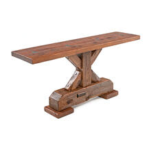 Timber Plank Sofa Table