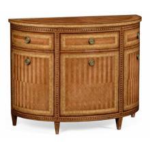 Satinwood demilune cabinet