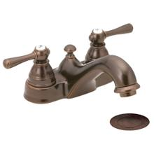 View Product - Kingsley Oil rubbed bronze two-handle low arc bathroom faucet