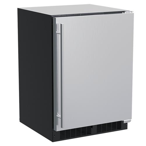 Marvel - 24-In Built-In Refrigerator With Door Storage with Door Style - Stainless Steel, Door Swing - Right