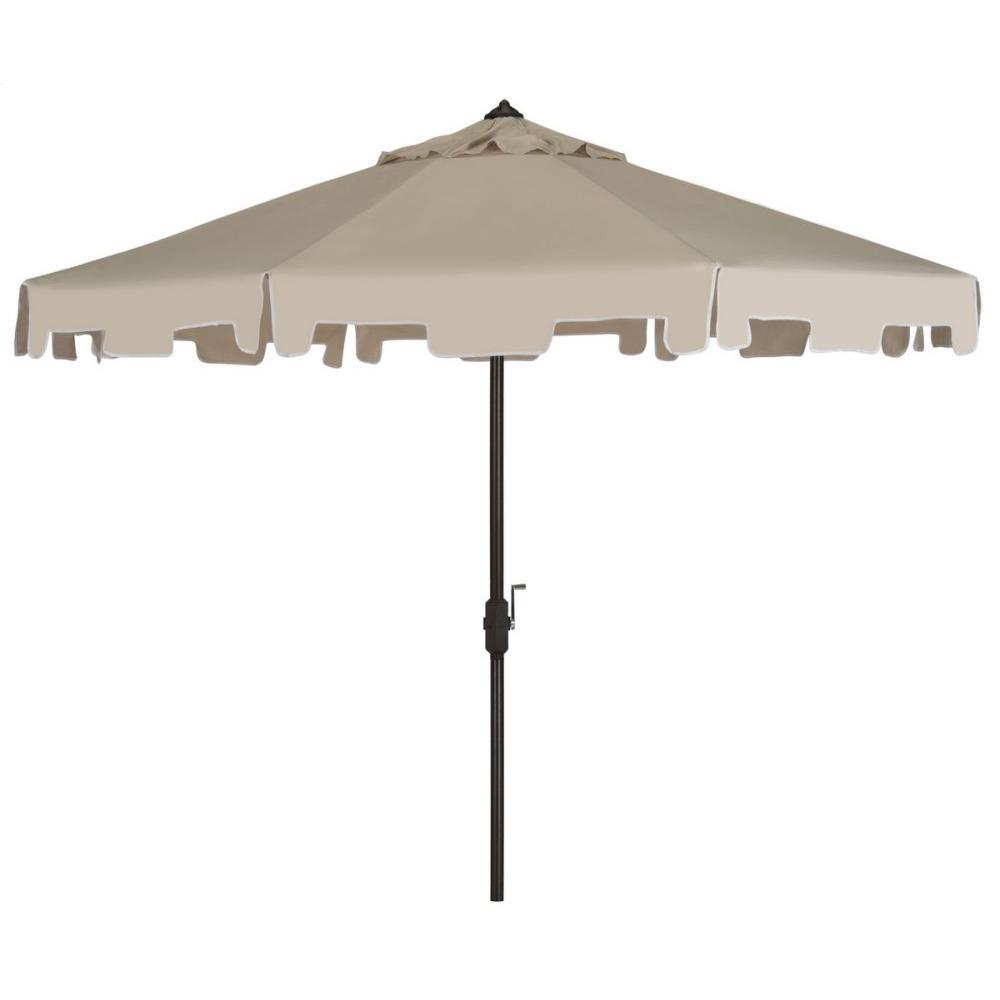 Zimmerman 9 Ft Crank Market Umbrella With Flap - Beige