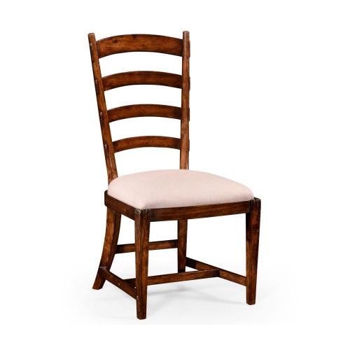 French ladderback style side chair