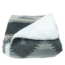 Southwest Design Throw With Shearling Back (gray), 50x60